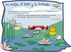 Actiludis: La oveja, el león y la lechuga. Juego de lógica en Flash