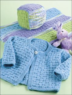 Knitting - Patterns for Children & Babies - Blanket Patterns - Sets Patterns - Playtime Baby Set