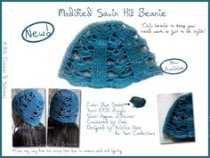 Modified Savin Hill Beanie Chic beanie to keep your head warm, or just to be stylish!   Color: Blue Smoke Yarn: 100% Acrylic Size: Approx. 23 inches Crocheted by: Gale Designed by: Kristina Olsen for Yarn Confections *Color may vary from the actual item due to lighting and camera quality.  #Crochet #Handcrafted #Beanie #Bonnet