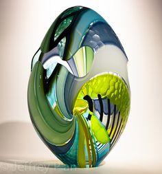 Jeffrey P'An - Connecticut - Palm Beach Fine Craft Show Artists Glass Art Design, Art Of Glass, Glass Ceramic, Modern Glass, Objet D'art, Glass Paperweights, Pisa, Colored Glass, Sculpture Art