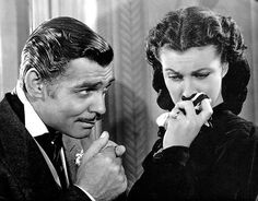 """Gone With The Wind. Clark Gable & Vivien Leigh in """"Gone With The Wind"""", 1939"""