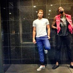 Blake Griffin x Deandre Jordan Nba Fashion, Mens Fashion, La Clippers, Blake Griffin, Los Angeles Clippers, Style Me, Nba Style, Gorgeous Eyes, Basketball Players