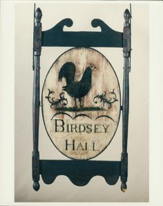 Tavern Sign for Birdsey Hall