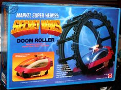 """The motorized """"Doom Roller"""" vehicle, from Mattel / Marvel's """"Secret Wars"""" toy line 1980s Toys, Retro Toys, Vintage Toys, Marvel Secret Wars, Old School Toys, Comic Book Heroes, Old Toys, Toy Store, Action Figures"""