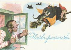 Jenny Nyström - Noita-akka ja kissa luudalla -