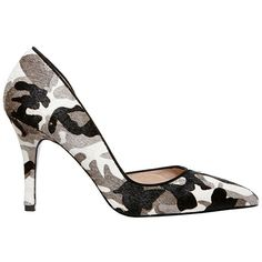 Betsey Johnson Cossmo-p Shoe (966.425 IDR) ❤ liked on Polyvore featuring shoes, pumps, grey camo, grey pumps, gray pumps, grey shoes, sexy high heel shoes and betsey johnson shoes