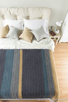 Looking for a simple statement piece? Colorblock stripes are great at tying together a subtle space!