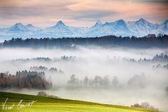 Fog over Switzerland by Vincent BOURRUT, via 500px