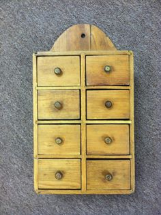 Beautiful Antique American Ash Hanging Spice by Chichesters, $169.50