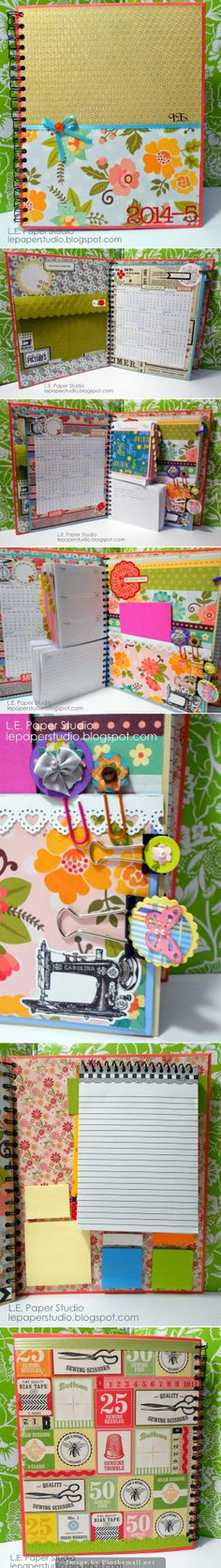 Make your own customized Filofax. DIY personalized planner mini album. Free printable inserts coming soon.