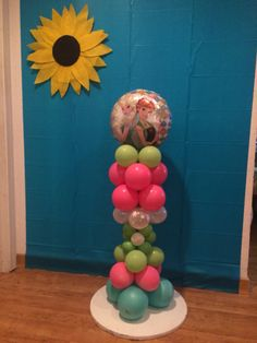 Frozen Fever mini balloon column Frozen Birthday, 2nd Birthday, Birthday Ideas, Birthday Parties, Frozen Fever Party, Mini Balloons, Balloon Columns, Anna Frozen, Cake Ideas