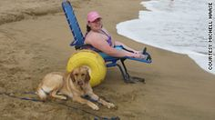 Kelsey Haase visited a beach in Maui with her service dog Emelia in June. Many beaches have accessible paths and offer free beach wheelchair...