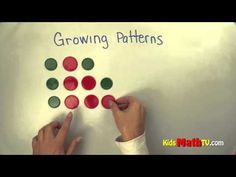 Learn Growing Patterns in this Math Video tutorial. Kindergarten lesson for kids. Patterning Kindergarten, Kindergarten Lessons, Math Lessons, Math Skills, First Grade Activities, 1st Grade Math, Math Activities, Grade 2, Math Games