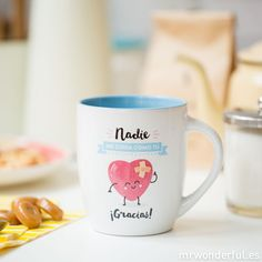 "Taza ""Nadie me cuida como tú ¡Gracias!"" #taza #mug #mrwonderfulshop #deco #thanks"
