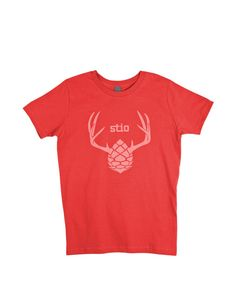 Kids' Antler Tee from Stio Mountain Style, Jackson Hole, Kid Styles, Mens Fashion, Gift Ideas, Tees, My Style, Projects, Mens Tops