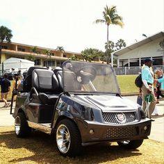 Not your average golf cart #CadillacChamp #CadillacOfShots #CadillacOfGolfCarts #golf #Doral