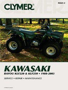 1988 2003 Kawasaki Klf220 Bayou Service Manual Kawasaki Manufacturer Clymer Manufacturer Part Number M465 2 Ad Stock Photo Clymer Repair Manuals Repair