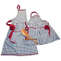 Mom + V Gingham Aprons