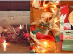 Manualidad de Guirnalda navideña iluminada Christmas Stockings, Holiday Decor, Home Decor, Christmas Swags, Fabric Scraps, Needlepoint Christmas Stockings, Decoration Home, Room Decor, Christmas Leggings
