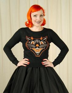 Sourpuss Clothing Lucy Fur Vintage Cat Sweater for sale at Cats Like Us - 2