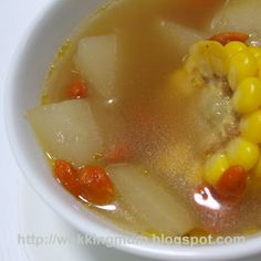 Let's get Wokking!: Corn and Melon Soup 冬瓜玉米汤 | Singapore Food Blog on easy recipes