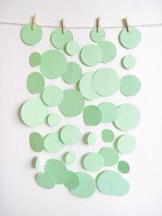 green circles, pastel