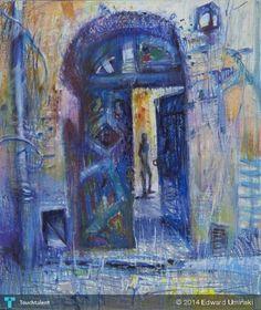 Brama na Kazimierzu 2003   78 x 65 cm   tłusta pastela