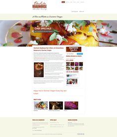 A restaurant website design by LuLish Design.