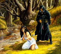 DragonLance art. Raistin and Crysania in Legends: War of the Twins.