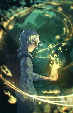 Mushishi - Ginko - Fanart (bottle of mushi by rtil on DeviantArt)