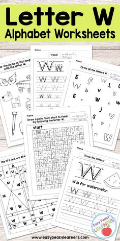 Free Printable Letter W Worksheets - Alphabet Worksheets Series