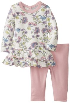 Coccoli Baby-girls Infant Enchanted Forest Floral Dress and Leggings (18 Months)
