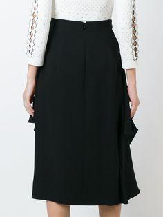 Alexander McQueen юбка с драпированными деталями