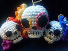 Crochet Pattern-Day of the Dead Skull hanging...
