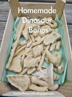 Cocina Pavimento Artesanía: Huesos de dinosaurio caseros