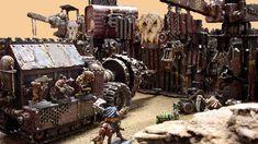 Ork Fortress 40k Terrain, Warhammer 40k, Military Vehicles, Diorama, Tabletop, Buildings, Scenery, Beans, Gaming