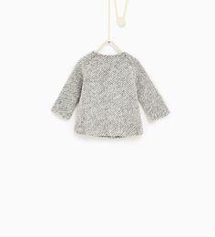 ZARA - KIDS - Two-tone knit coat