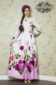 Недоступно для заказа – 724 photos | VK Modest Maxi Dress, Cute Maxi Dress, Chiffon Dress, Maxi Dresses, Woman Dresses, Modesty Fashion, Fashion Dresses, Mexican Dresses, Floral Fashion