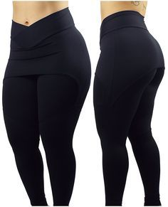 Legging Com Saia La Seduzione Suplex Fitness Academia Grossa - R$ 98,59