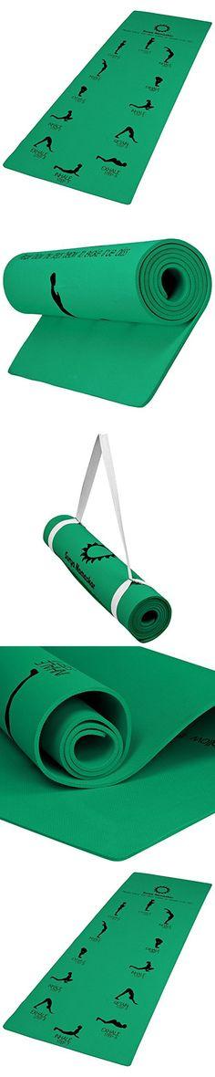 "Aerolite Printed Sun Salutation Premium Yoga Mat Green L-72"" x B-26"" x H-6"" (Thickness)"