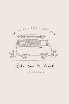 Travel Drawing Adventure illustration by Ryn Frank Doodle Drawings, Easy Drawings, Doodle Art, Exploration, Travel Drawing, Travel Illustration, Aesthetic Drawing, Illustrator, Grafik Design