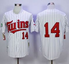 794aaea8f Mitchell And Ness 1991 Twins Harmon Killebrew White(Blue Strip) Throwback  Stitched MLB Jersey