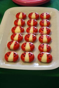 Baby Bel Cheese ladybugs The Obsessive Crafter: Party Planning: Isabel's First Birthday