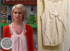 Shop Your Tv: Baby Daddy Season 2 Epiosde 6: Riley's Cream Bow Blouse
