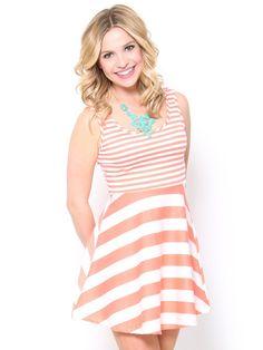 Striped Skater Tank Dress  Skater Dress cute #casualoutfit #ramirez701 #SkaterDress #Skater #Dress #topdress www.2dayslook.com