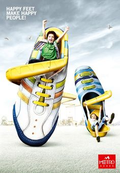 I just love fashion advertising. This is a branch of advertising that focuses on creating promotions for the fashion industry. Creative Shoes, Ads Creative, Creative Advertising, Creative Kids, Children Advertising, Shoe Advertising, Advertising Design, Fashion Advertising, Shoe Poster