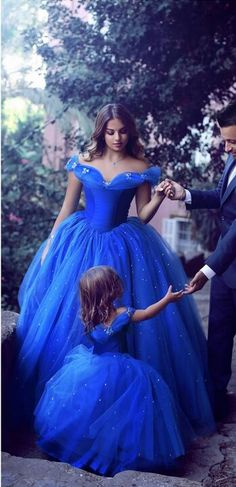 646f735ea8c Said Mhamad Royal Blue Princess Wedding Flower Girl Dresses Puffy Tutu  Sparkly Crystals 2018 Toddler Little Girls Pageant Communion Dress