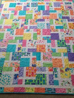 Disappearing nine-patch.  Fabrics from Me and My Sister (Spring Fling)