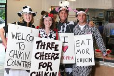Dress Like a Cow and Get Free Chicken