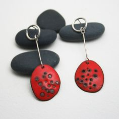Tangerine Dreams in Enamel by metalchick on Etsy, $70.00